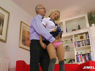 Steamy Schoolgirl Offers Her Tight And Sweet Twat To Her Teacher